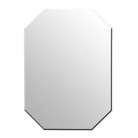Octagonal Frameless Mirror, 20x30