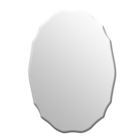 Scalloped Oval Frameless Mirror, 20x36