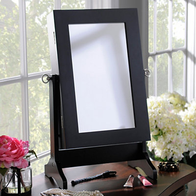 Black Tabletop Jewelry Armoire