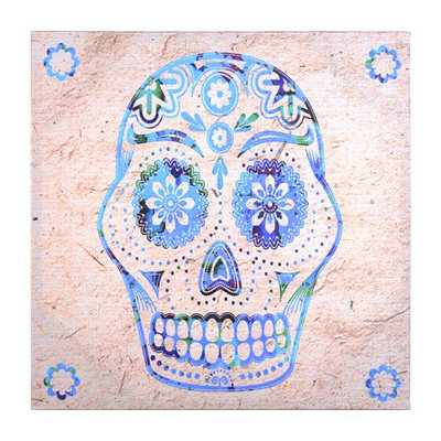 Flower Sugar Skull Canvas Art Print