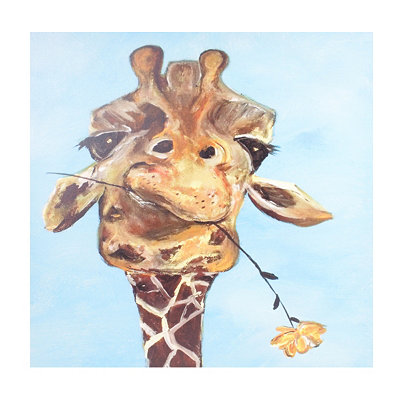 Mischievous Giraffe Canvas Art Print