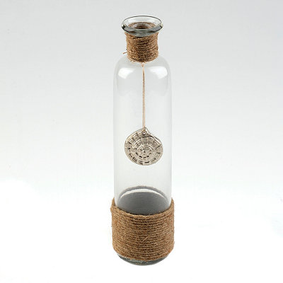 Pewter Nautilus & Rope Vase