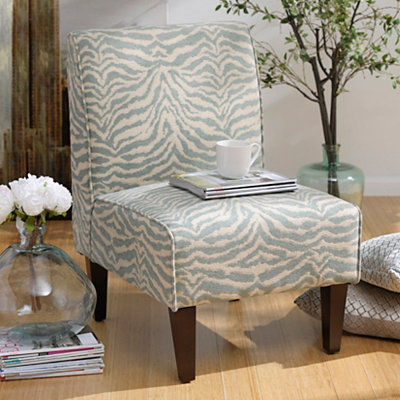 Blue Zebra Slipper Chair