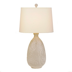 Gray Swirls Table Lamp