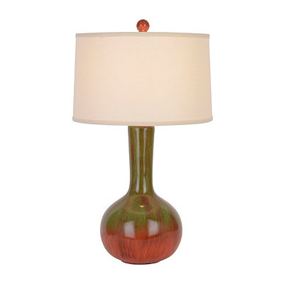 Ceramic Pumpkin Orange Table Lamp