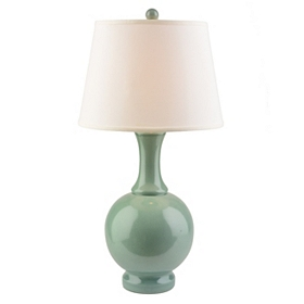Ceramic Seafoam Crackle Table Lamp