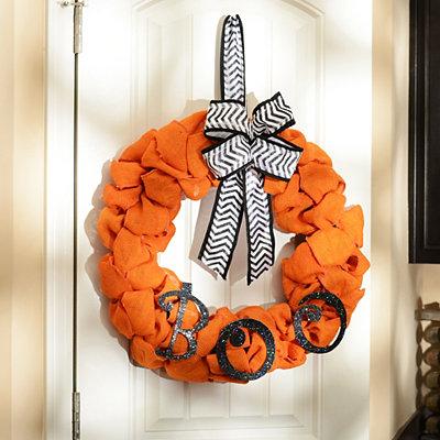 Burlap Boo Wreath
