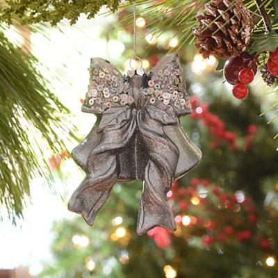 Silver Sequin Bells Ornament