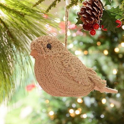 Jute Bird Ornament