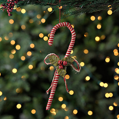 Jute Candy Cane Ornament