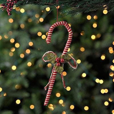 Jute Candy Cane Ornament