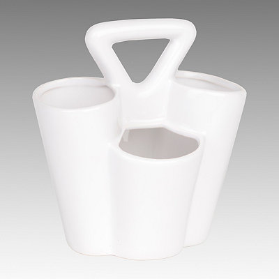 White Ceramic Utensil Caddy