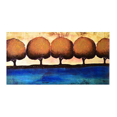 Row of Trees Canvas Art Print
