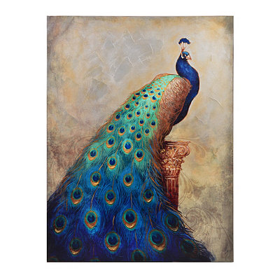 Majestic Peacock Canvas Art Print