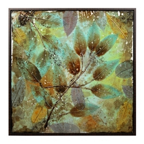 Fossil Leaves Framed Canvas Art Print