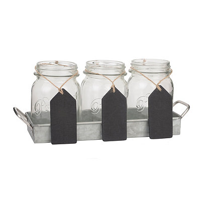 Mason Jar Flatware Caddy, Set of 4