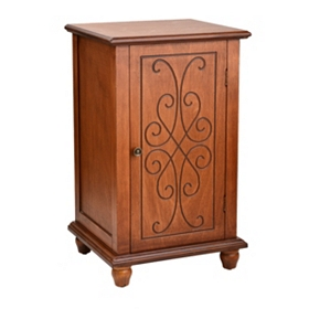 Honeywood Scroll Engraved Side Table