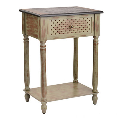Washed Gray Side Table