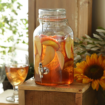 Sweet Sippin' Glass Beverage Dispenser