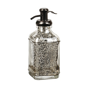 Silver Mercury Glass Soap Dispenser