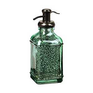 Teal Mercury Glass Soap Pump