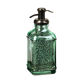 Teal Mercury Glass Soap Dispenser