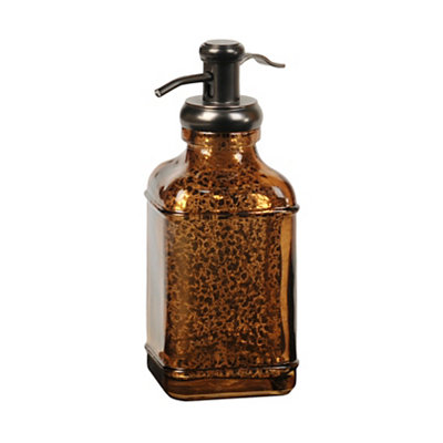 Chocolate Mercury Glass Soap Pump