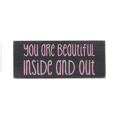 Beautiful Inside and Out Word Block