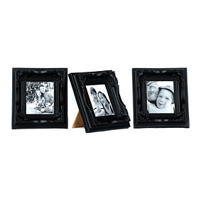 Black Magnetic Easel Picture Frames, Set of 3