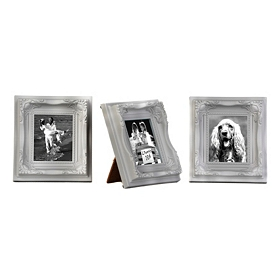 Gray Magnetic Easel Picture Frames, Set of 3