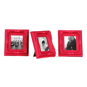 Pink Magnetic Easel Picture Frames, Set of 3