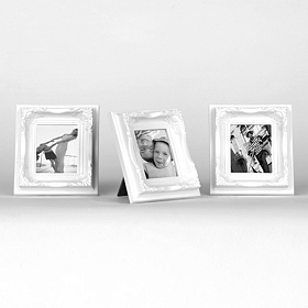 White Magnetic Easel Picture Frames, Set of 3