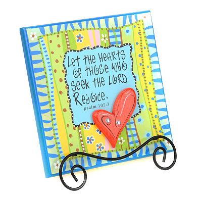 Let Hearts Rejoice Tabletop Plaque