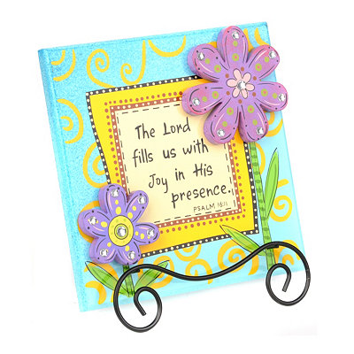 Joy in His Presence Tabletop Plaque