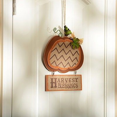 Burlap & Beadboard Harvest Blessings Plaque