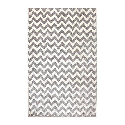Gray Chevron Area Rug, 3.5x5