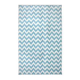 Blue Chevron Area Rug, 3.5x5