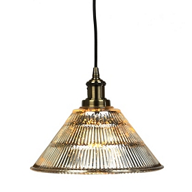 Gold Mercury Glass Pendant Light
