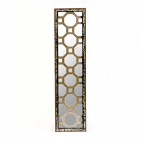 Distressed Quatrefoil Mirror Plaque