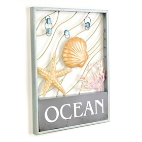 Ocean Life Metal Wall Plaque