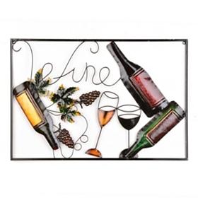 Metallic Wine Bottle Plaque
