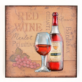 Napa Valley Merlot Wall Plaque