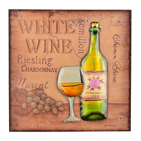 Napa Valley Chardonnay Wall Plaque
