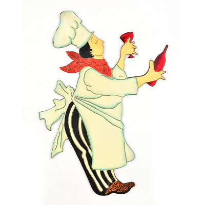 Sleepy Chef Wall Plaque