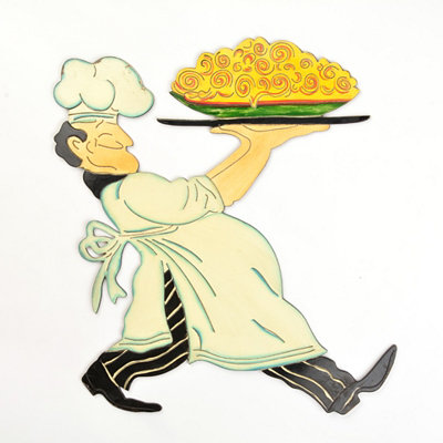 Chef & Giant Pie Wall Plaque