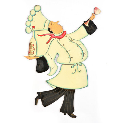 Dancing Chef Wall Plaque