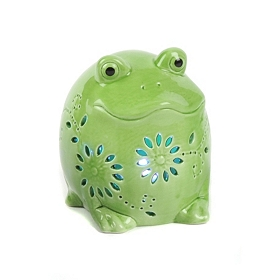 Green Frog Night Light LED Statue