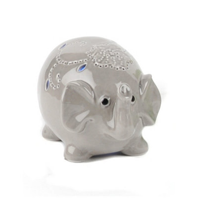 Gray Elephant Night Light LED Statue