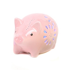 Pink Piggy Night Light LED Statue