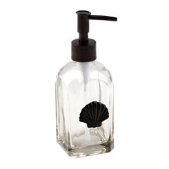 Glass Soap Pump with Bronze Shell